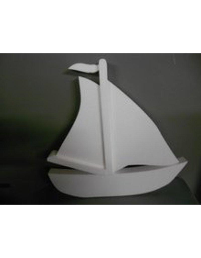 Styrofoam sailboat