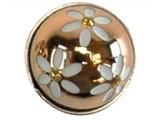 Sari Design chique button, goud met witte bloemen