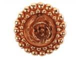 Sari Design rosé button met rosé roos