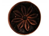 Sari Design metal button, koper bloem