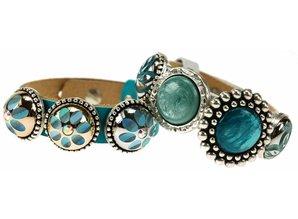 Sari Design chique button, ocean blauw
