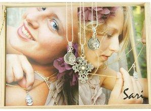 Sari Design bedel, rosé/blauw
