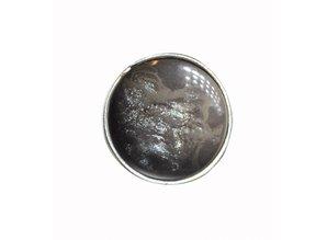 Sari Design chique button, licht bruin, vlam