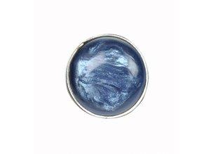 Sari Design ovaal button, jeans blauw