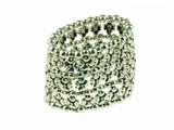 Metalen armband, bloem