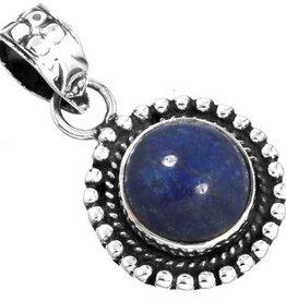 hanger lapis lazuli, sterling zilver