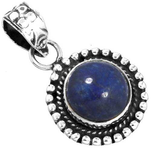 hanger lapis lazuli, sterling zilver, voordeelactie