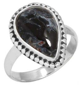 pietersiet ring, sterling zilver, groot model
