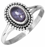 edelsteen ring ioliet, sterling zilver, maat 18, voordeelactie