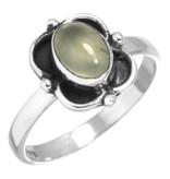 edelsteen prehniet ring, sterling zilver, ringmaat 17, voordeelactie