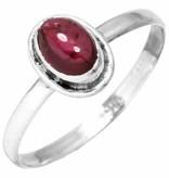 edelsteen ring granaat, sterling zilver, voordeelactie, ringmaat 19