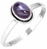 edelsteen ring ioliet, sterling zilver, ringmaat 19, voordeelactie