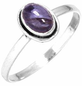edelsteen ring ioliet, sterling zilver, voordeelactie, ringmaat 19