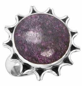 edelsteen ring purpuriet, sterling zilver, prachtig model