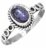 edelsteen ring ioliet, sterling zilver, ringmaat 16,5, voordeelactie