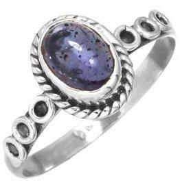edelsteen ring ioliet, sterling zilver, voordeelactie, ringmaat 16,5