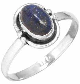 edelsteenring lapis lazuli, sterling zilver, voordeelactie