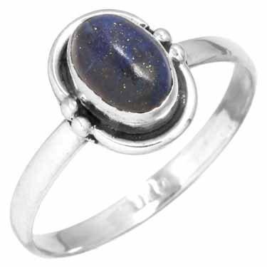 edelsteenring lapis lazuli, sterling zilver, maat 16,25, voordeelactie