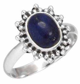 edelsteen ring lapis lazuli, sterling zilver, voordeelactie