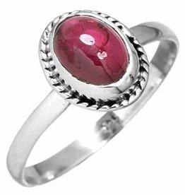 edelsteen ring granaat, sterling zilver