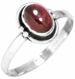 edelsteen ring granaat, sterling zilver, voordeelactie