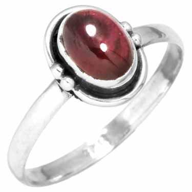 edelsteen ring granaat, sterling zilver, voordeelactie, ringmaat 17
