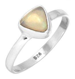 edelsteen ring opaal, edelopaal multikleur, sterling zilver