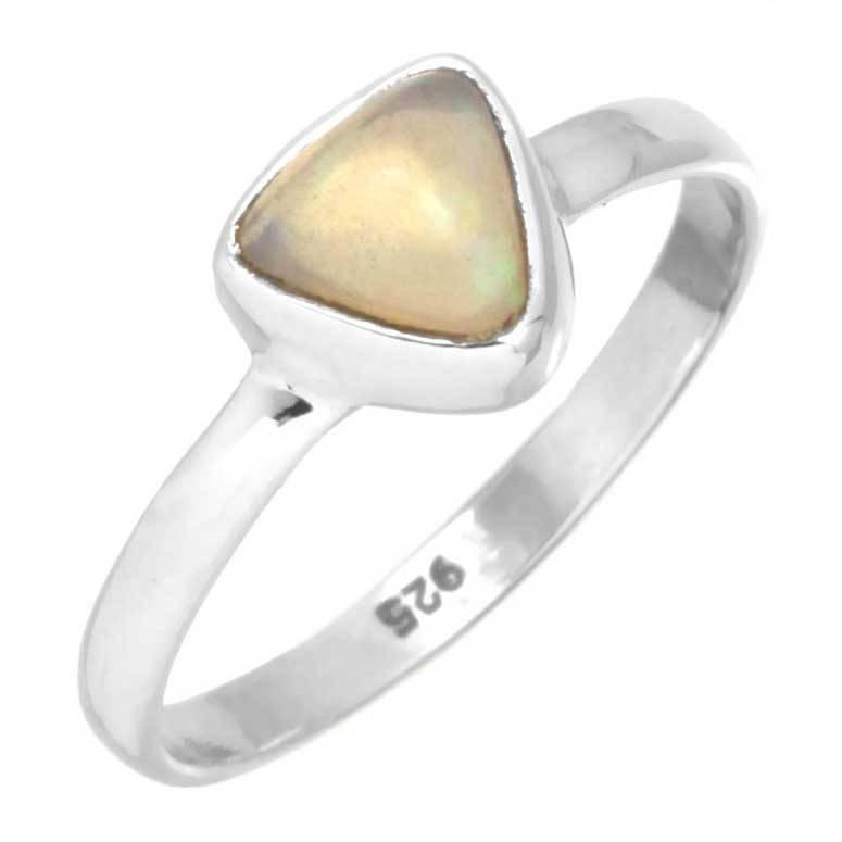 edelsteen ring opaal, edelopaal multikleur, sterling zilver, voordeelactie