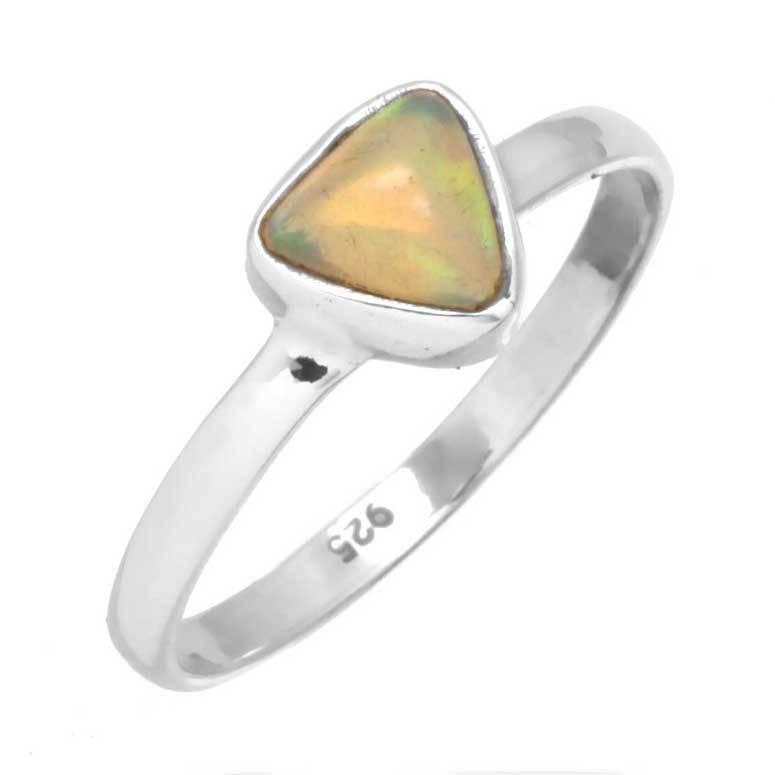 edelsteen ring opaal, edelopaal multikleur, sterling zilver, voordeelactie, ringmaat 17