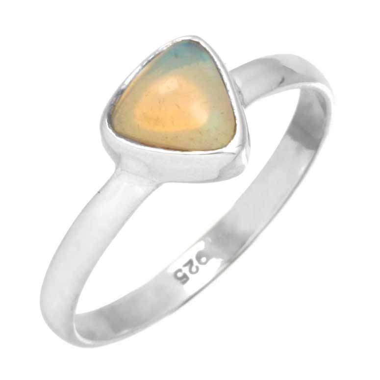 edelsteen ring opaal, edelopaal multikleur, sterling zilver, voordeelactie, ringmaat 16.5