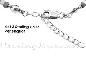 slot 3 Sterling zilver verlengslot