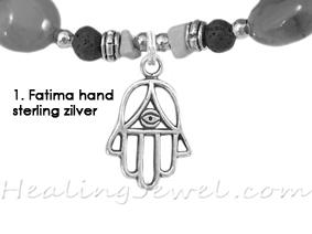 hangertje 1 Fatima hand sterling zilver