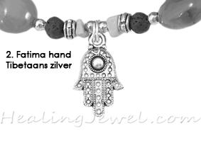 hangertje 2 Fatima hand Tibetaans zilver