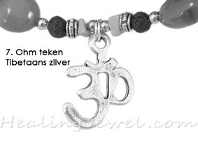 hangertje 7 Ohm teken Tibetaans zilver