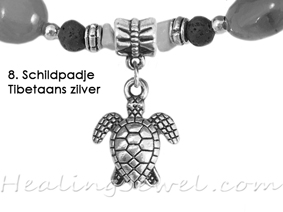 hangertje 8 Schildpadje Tibetaans zilver