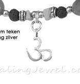 VibeZZ edelstenen enkelbandje zelf samenstellen op maat, VibeZZ  'peace & quiet'
