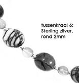 VibeZZ VibeZZ edelsteen armband  'standvastigheid', met witte turkoois en mahonie obsidiaan, zelf samenstellen
