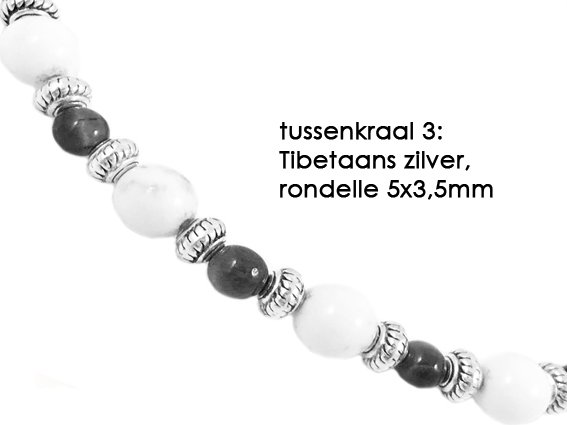 VibeZZ VibeZZ edelsteen armband:  'spiritueel aarden', met gele tijgeroog en blauwe jaspis, zelf samenstellen