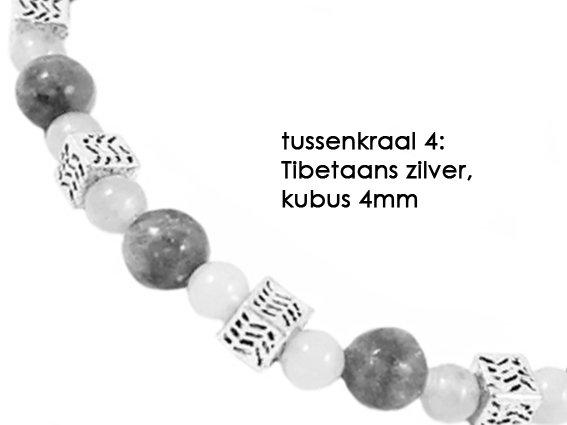 VibeZZ VibeZZ edelsteen armband 'overgevoeligheid', met paarse kunziet en pyriet, zelf samenstellen