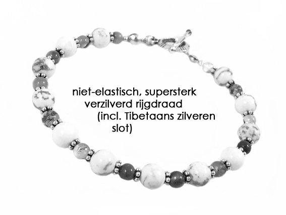 VibeZZ VibeZZ edelsteen armband: 'kunnen kiezen', voor moeite met kiezen, groene agaat en hematiet, zelf samenstellen