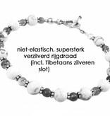 VibeZZ VibeZZ edelsteen armband  'bestaansrecht', met rhodoniet en amazoniet, zelf samenstellen