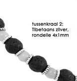VibeZZ VibeZZ edelsteen armband 'hoofdpijn verdwijn', met citrien en zwartwitte netwerk jaspis, zelf samenstellen