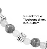 VibeZZ VibeZZ edelsteen armband: 'helder hoofd',  met turquoise kwarts en hematiet, zelf samenstellen