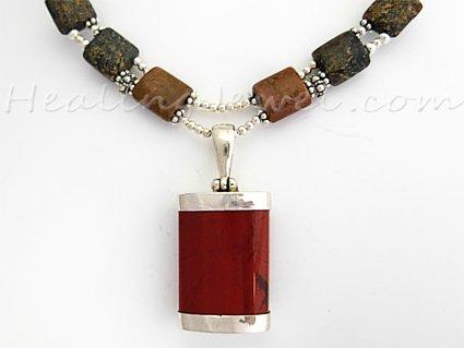Happy Healthy Me exclusief collier met o.a. unakiet, sterling zilver
