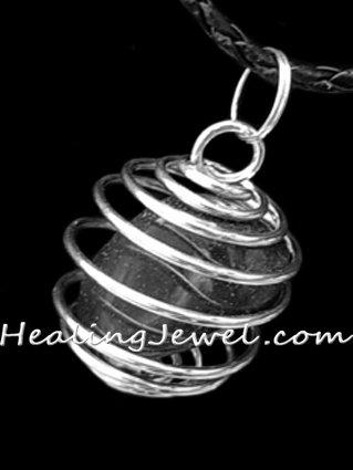 spiraalhanger voor edelstenen / trommelstenen