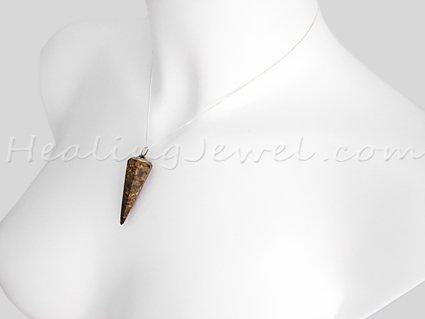 agaat hanger punt, bruine spotted agaat