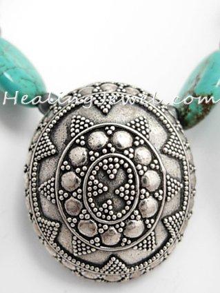 Happy Healthy Me exclusief collier met o.a. turkoois en sterling zilver