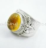 schitterende ring citrien, sterling zilver