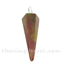 jaspis hanger punt, bonte jaspis, rood met groenbruin