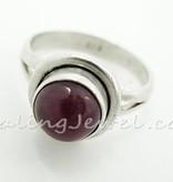 schitterende ring robijn, sterling zilver